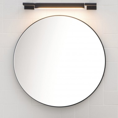 Rounded mirror wall mounted