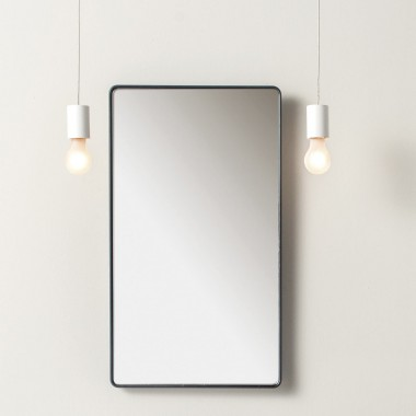 Rectangular mirror wall...