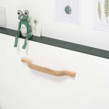 Towel holder in wood 45 cm...
