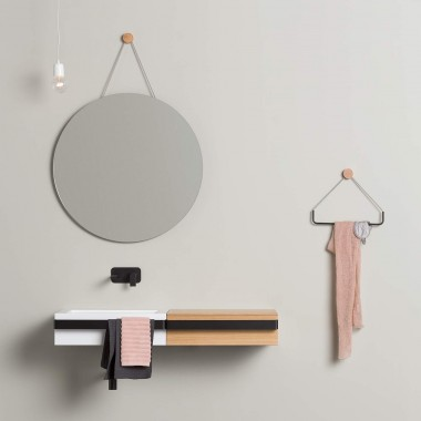 Wall mounted rounded mirror...