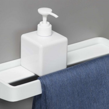 Shelf and towel holder 20...