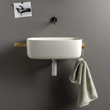 Washbasin with towel holder...